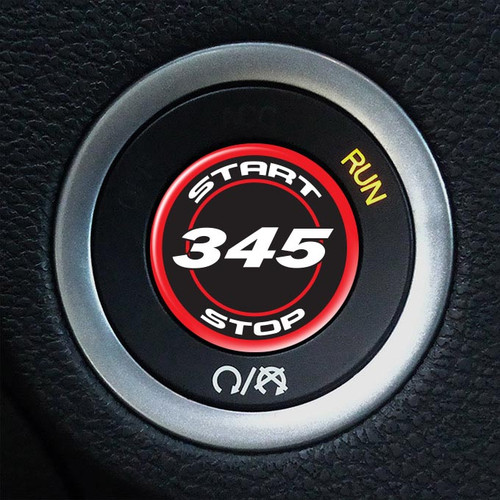 345 Hemi Starter Button Overlay 5.7L