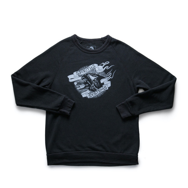 Wolf Banner Black Sweater