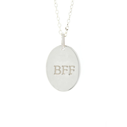 Ladies Sterling Silver 925 BFF Monogram Charm Pendant