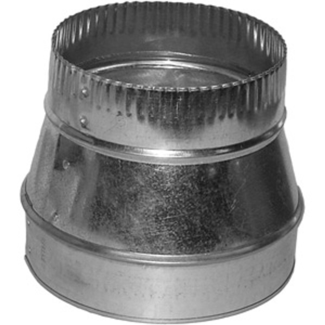 8 To 6 Sheet Metal HVAC Duct Reducer For Flexible Or Ducts