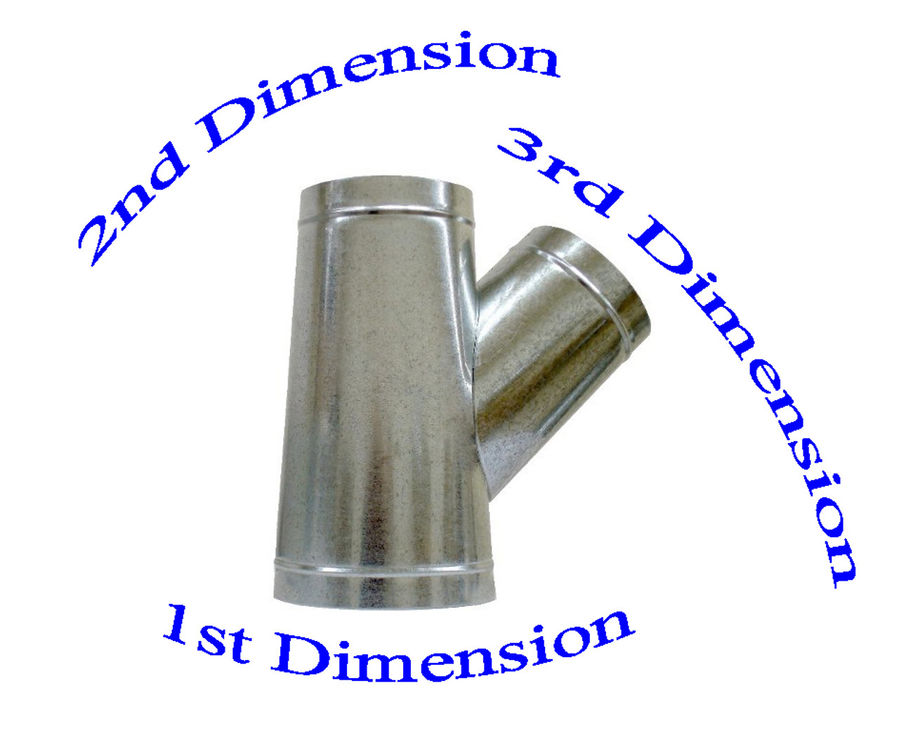 "6"" x 6"" x 4"" Duct Wye Branch HVAC Ductwork AC Duct Fittings"