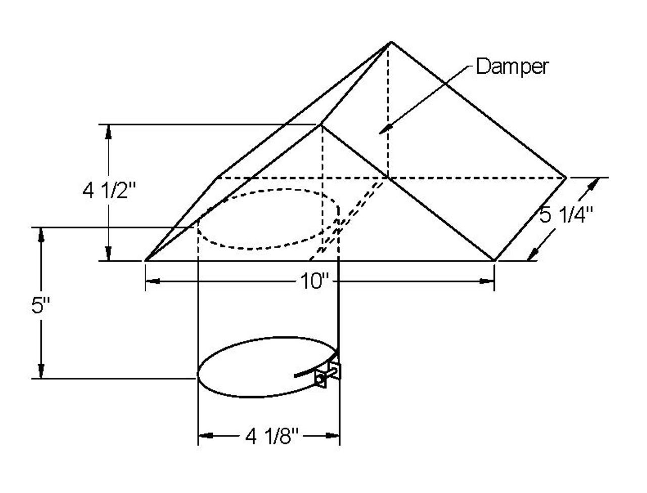 4 inch vertical dryer roof cap