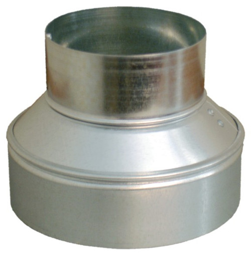 9x8 Round Duct Reducer for HVAC
