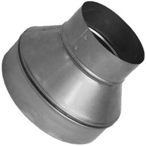 "12"" to 10"" Sheet metal HVAC Duct Reducer for flexible or metal HVAC Ducts and air vents."