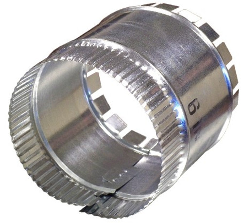 dove tail sheet metal start collars are used to tap off duct plenums or branch off duct