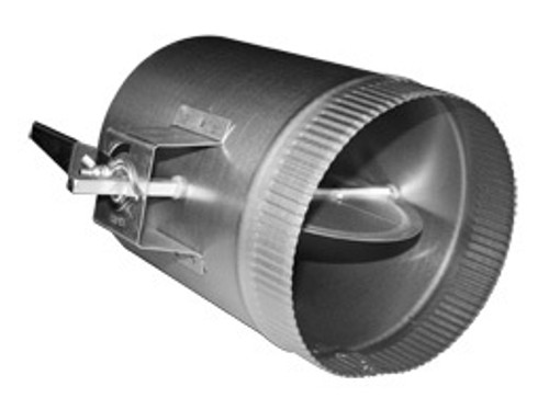 """20"""" Duct Volume Damper Sleeve w/ 1.5"""" Stand-Off Handle"""