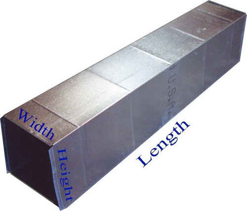 """Duct Work 6"""" x 4"""" x 36"""" Long With End Cap HVAC Duct"""