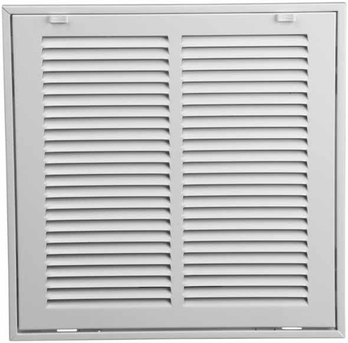 10x10 return air filter grille stamped face