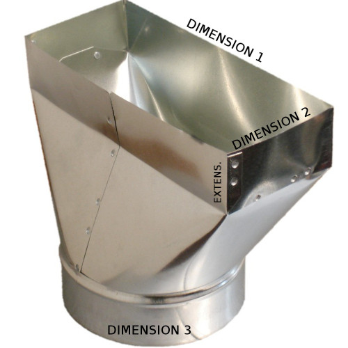 10x4x4 PH1 Duct Register Boot