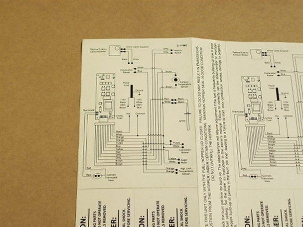 [DIAGRAM_1JK]  Replacement Enviro EF5 Self Adhesive Wiring Diagram - 50-335 | Black Bart Wiring Diagram |  | Stove Parts Unlimited