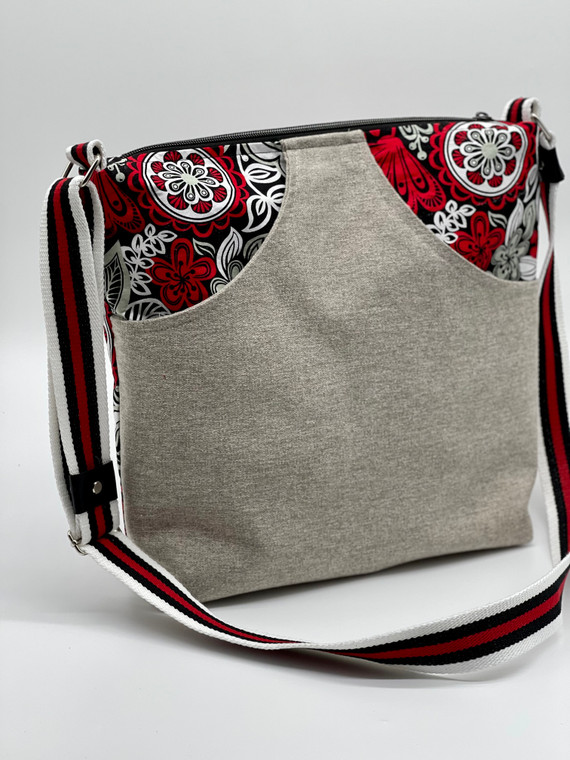 Red and Gray Crossbody