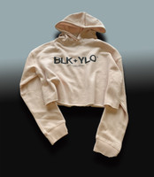 Blush cropped hoodie