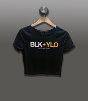BLKYLO cropped tee (black)