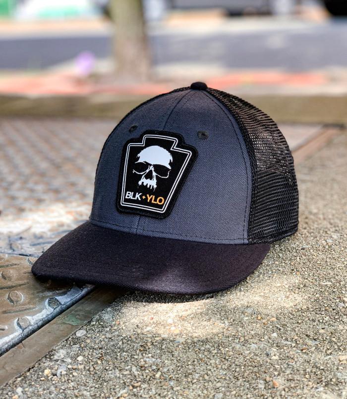 Grey on Black A-Flex hat