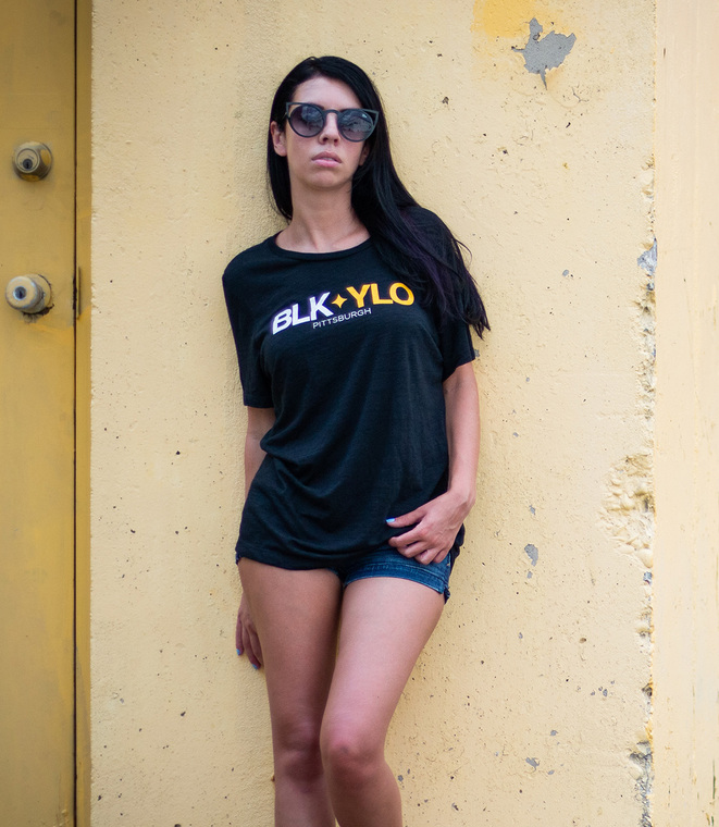 BLKYLO women's relaxed fit tee