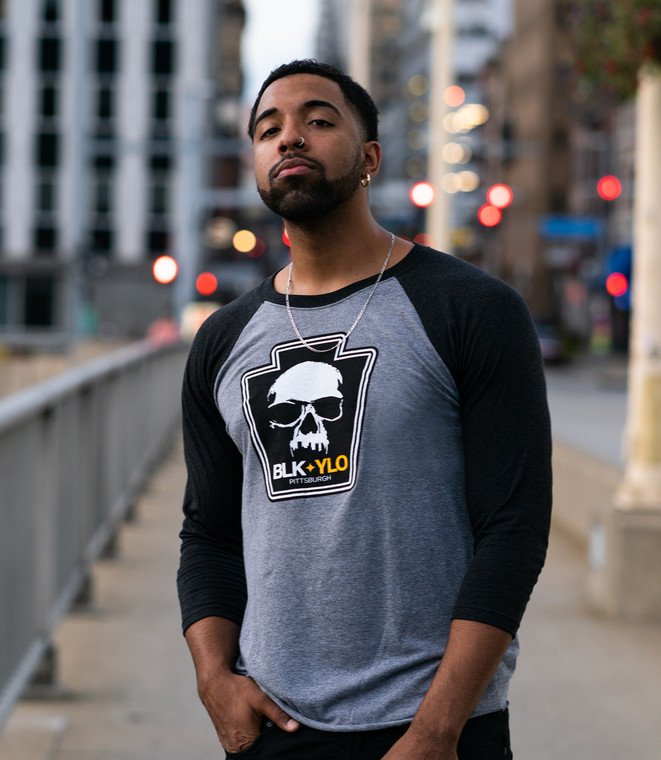 Official Skyline Skull baseball tee
