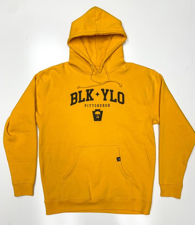 Varsity hooded sweatshirt  (White/Gold)