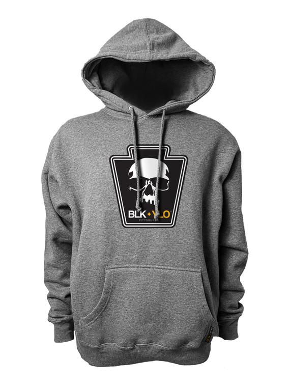 Official Skyline Skull Heavyweight hoodie (heather grey)