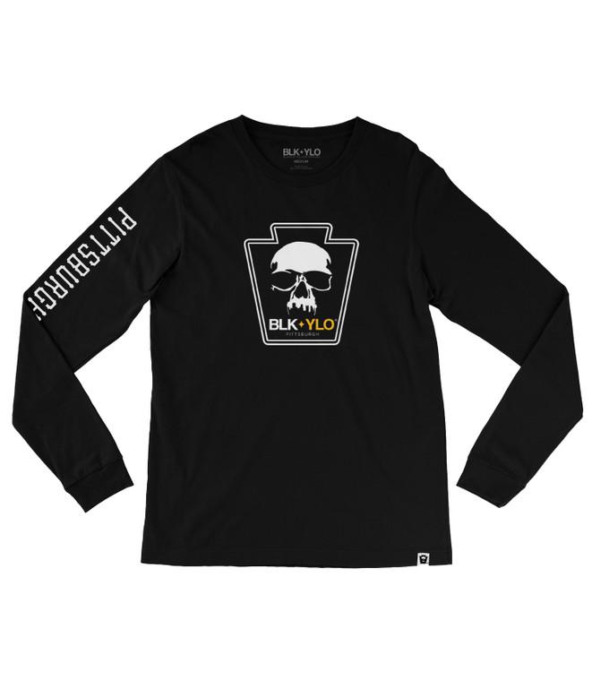 Skyline Skull Long sleeve tee