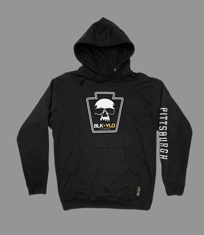 Skyline skull heavyweight hoodie (home colors)