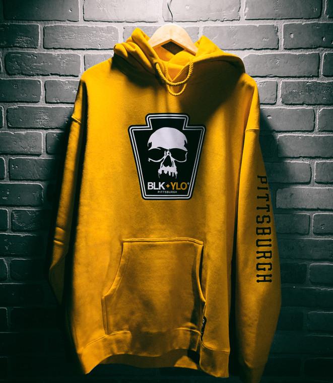 Throwback gold heavyweight hoodie