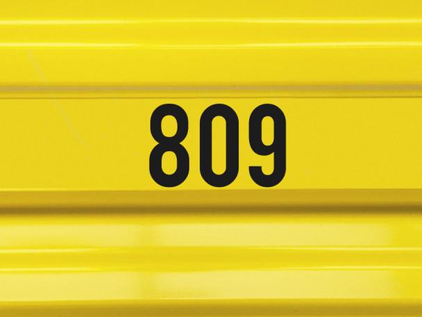 door number storage unit sign vinyl decal