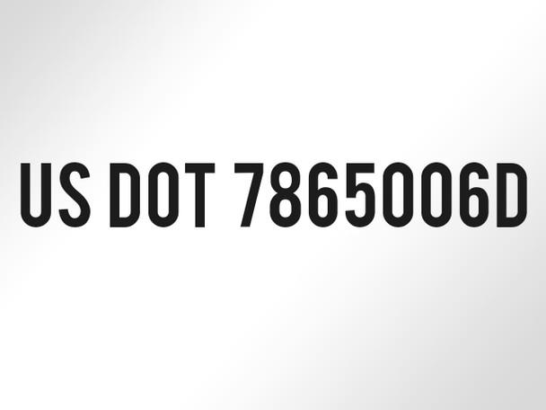 custom US DOT Numbers vinyl decals
