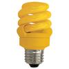 TCP CFL9W Full Springlamp Yellow Bug Light Bulb - 48909Y