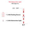 H&P Hughey Phillips Incandescent Red Obstruction Lighting Kit - 151' - 200' - FAA Type - A1 - 1GB31A00V200