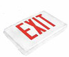 Red LED - Diecast Double Face Exit Sign - AC - White - (TCP Brand)