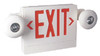 Red Exit Lighting Combination Unit - Bug Eye - BBU -  White Housing - (TCP Brand)