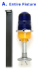 Heliport Lighting Fixture / Complete with stake (Heliport-Lighting-Fixture)