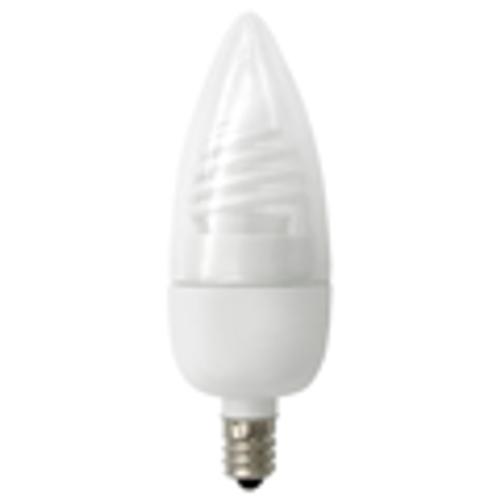 TCP Brand Cold Cathode Torpedo Candelabra Shaped 3W White Light Bulb