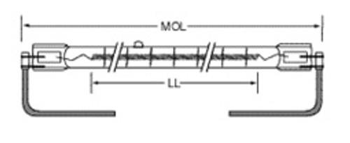 USHIO QIH250-2200/C Quartz Infared Heat (QIH) Lamp
