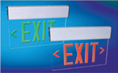 Red LED Exit Sign - White Double Face - AC ÌâåÐ Surface Mount - White Housing - (TCP Brand)