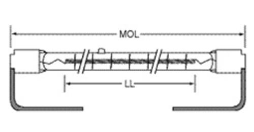 USHIO QIH240-1600T/S Quartz Infared Heat (QIH) Lamp