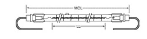 USHIO QIH570-3800/VL Quartz Infared Heat (QIH) Lamp