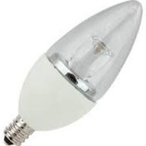 4W LED Elite Series Dimmable 27K Candelabra Blunt Tip Light Bulb - TCP Brand