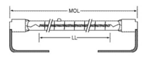 USHIO QIH240-2000/S2 Quartz Infared Heat (QIH) Lamp