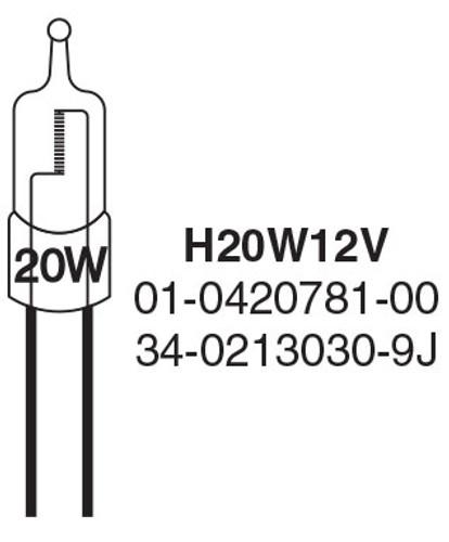 Whelen Replacement Bulb H20W12V 20 Watt, TA4000A, TA9000A Series, TA9000D