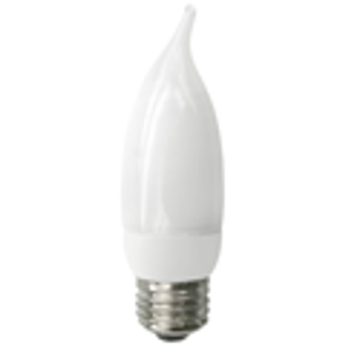 Flame Tip Shaped Cold Cathode Lamp - 8W - White - E26 Base - TCP Brand