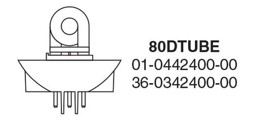 Whelen 800D/1200D Series Helix 1-1/2 Turn, 3 Pin Plug-In Base Strobe Tube, Each - 80DTUBE