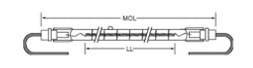 USHIO QIH480-4900/VL Quartz Infared Heat (QIH) Lamp