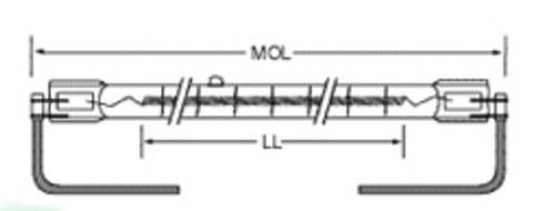 USHIO QIH240-2000/C Quartz Infared Heat (QIH) Lamp