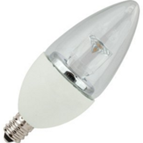 5W LED Elite Series Dimmable 27K Candelabra Blunt Tip Light Bulb - TCP Brand 1
