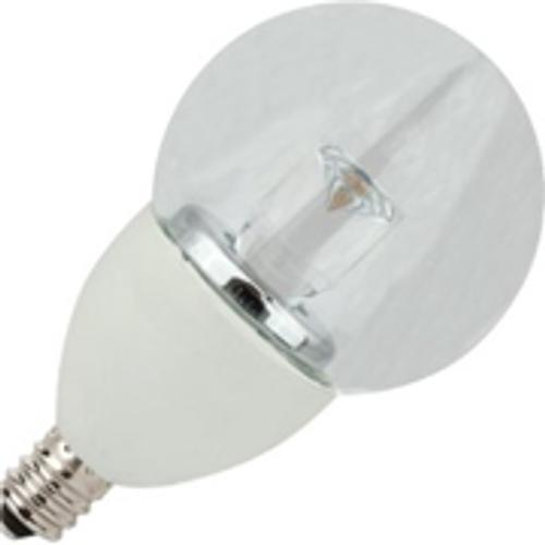 4W LED Elite Series Dimmable 27K  Candelabre G16 Globe Light Bulb - TCP Brand