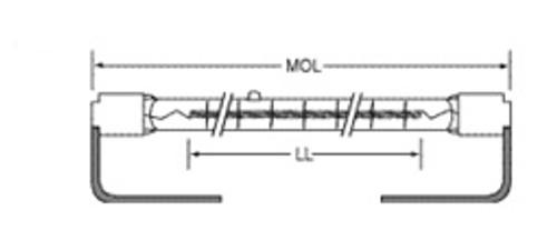 USHIO QIH120-500/S2 Quartz Infared Heat (QIH) Lamp