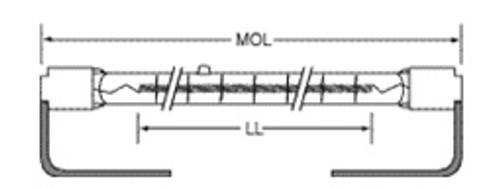USHIO QIH600-5000/S Quartz Infared Heat (QIH) Lamp