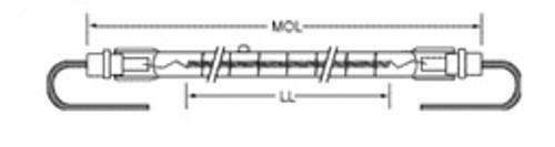 USHIO QIH600-2500/VL Quartz Infared Heat (QIH) Lamp