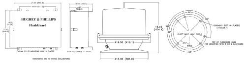 H&P Hughey Phillips Obstruction Lighting  Flashguard 2000B Medium Intensity White Lighting System - FG2007B-004